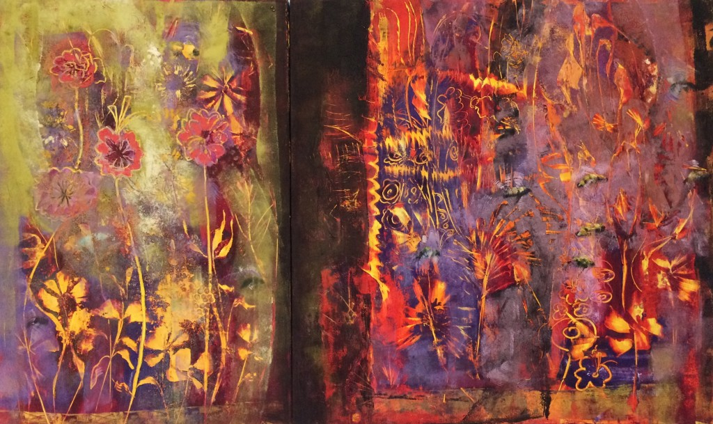 The Other Side -Diptych 50 x 30